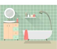 1 badrum Arkivbilder