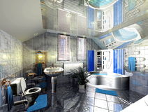 badrum 3D Royaltyfri Fotografi