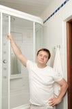 badrum hans man Fotografering för Bildbyråer