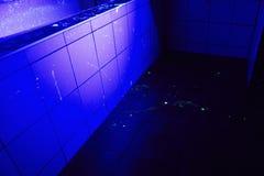Badrum som ställe av brottet Arkivfoto