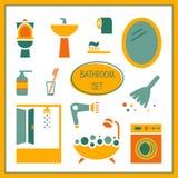 Badrumbeståndsdelar, uppsättning Vektor Illustrationer