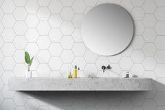 Badruminre för modern design close upp stock illustrationer