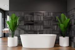 Badruminre för modern design med bathtube vektor illustrationer