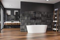 Badruminre för modern design med bathtube royaltyfri illustrationer