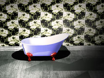 badrummen badar Arkivbild