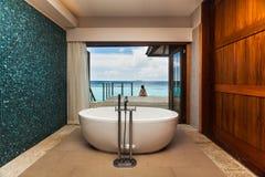 Badrummet av maidives Arkivbilder