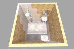 badrummet 3D framför Arkivfoton