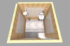 badrummet 3D framför Royaltyfri Foto