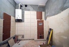badrumrenovering Arkivbild