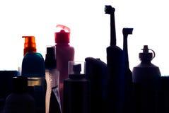 badrumskåp som jag silhouette Royaltyfri Bild