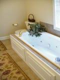 badrumstrålen badar arkivbild