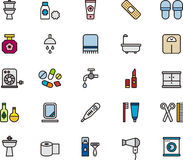 Badrumsymboler Fotografering för Bildbyråer