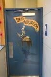 Badrumtecken och dörr Arkivbild