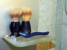 Badrumtillbehör för hygien Royaltyfria Foton