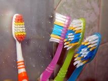 Badrumtillbehör för hygien Fotografering för Bildbyråer