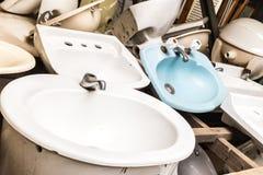 Badrumvaskar Fotografering för Bildbyråer