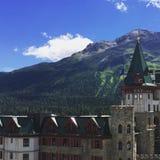 Badrutt& x27; s-Palast-Hotel in St Moritz Stockfotografie