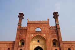 Badshahi清真寺在拉合尔,巴基斯坦 库存图片