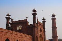 Badshahi清真寺或红色清真寺在拉合尔,巴基斯坦 库存照片