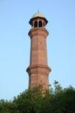 Badshahi清真寺拉合尔,旁遮普邦,巴基斯坦尖塔  免版税库存照片