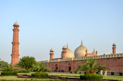 Badshahi清真寺拉合尔,旁遮普邦,巴基斯坦 免版税图库摄影