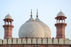 Badshahi清真寺拉合尔,旁遮普邦,巴基斯坦 图库摄影
