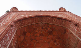 Badshahi清真寺美好的细节在拉合尔,巴基斯坦 库存图片
