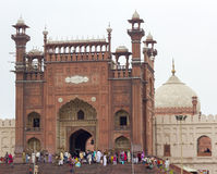 Badshahi清真寺,拉合尔,巴基斯坦 图库摄影