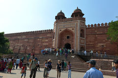 Badshahi Darwaza in Fatehpur Sikri Complex. Badshahi Darwaza (the Royal Door), which was reserved for emperor to join the congregational prayer, in Fatehpur Stock Photos