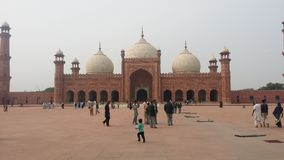 Badshahi Masjid Lahore Immagini Stock Libere da Diritti