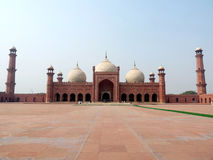 Badshahi Moschee Lahore lizenzfreie stockfotos