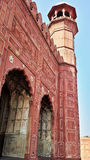 Badshahi moské i lahore Arkivfoton