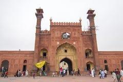Badshahi moské, Lahore, Pakistan Royaltyfria Bilder