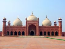 Badshahi Mosque Lahore. Badshahi Mosque Famous Landmark & Tourists Destination Located in Lahore, Pakistan. It is also one of the biggest mosque in the world Royalty Free Stock Image
