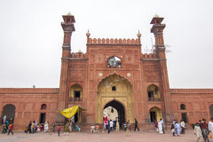 Badshahi Mosque, Lahore, Pakistan. Front entrance of historical Badshahi Mosque, Lahore, Pakistan Royalty Free Stock Images