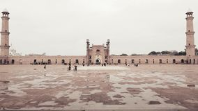 Badshahi Mosque Lahore - Pakistan. Badshahi Mosque (transformation in English: Royal Mosque) is the second largest mosque of Pakistan, located in provincial Royalty Free Stock Images