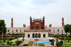 Badshahi Mosque Lahore. The Badshahi Mosque or the 'Royal Mosque' in Lahore, commissioned by the sixth Mughal Emperor Aurangzeb in 1671 and completed Stock Image