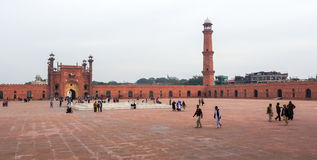 Badshahimoskee in Pakistan royalty-vrije stock afbeelding