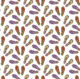 Badskor sömlös modell, tecknad filmstil Oändlig bakgrund för sommar Skor upprepande textur också vektor för coreldrawillustration stock illustrationer