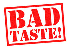 BADT TASTE!. BAD TASTE! red Rubber Stamp over a white background Stock Images