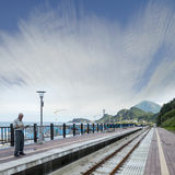 Baduji等待再驾驶的火车站在12月,新 免版税库存图片