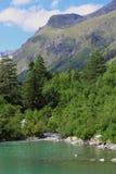 Baduk jeziora Teberda i Dombai Obrazy Stock