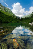 Badukskoe Lake in Caucasus Stock Image