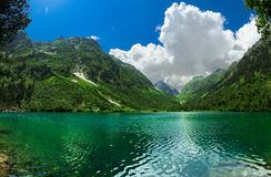 Badukskoe Lake in Caucasus. First Badukskoe Lake in Caucasus. Dombai, Russia stock image