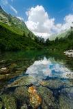 Badukskoe Lake i Caucasus fotografering för bildbyråer