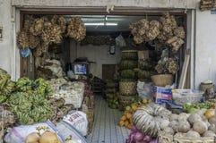Badung传统市场,巴厘岛-印度尼西亚 免版税库存照片