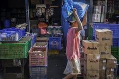 Badung传统市场,巴厘岛-印度尼西亚 库存照片
