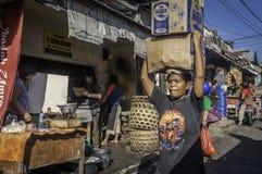 Badung traditionell marknad, Bali - Indonesien royaltyfria foton