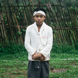 Baduy or Badui. Baduy Badui Dalam people resist foreign influences and vigorously preserve their ancient way of life Royalty Free Stock Images