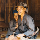 Baduy or Badui. Baduy Badui Dalam people resist foreign influences and vigorously preserve their ancient way of life Royalty Free Stock Image